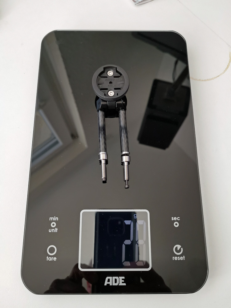 CarbonWorks Cockpit Halter - mit Garmin Aufsatz