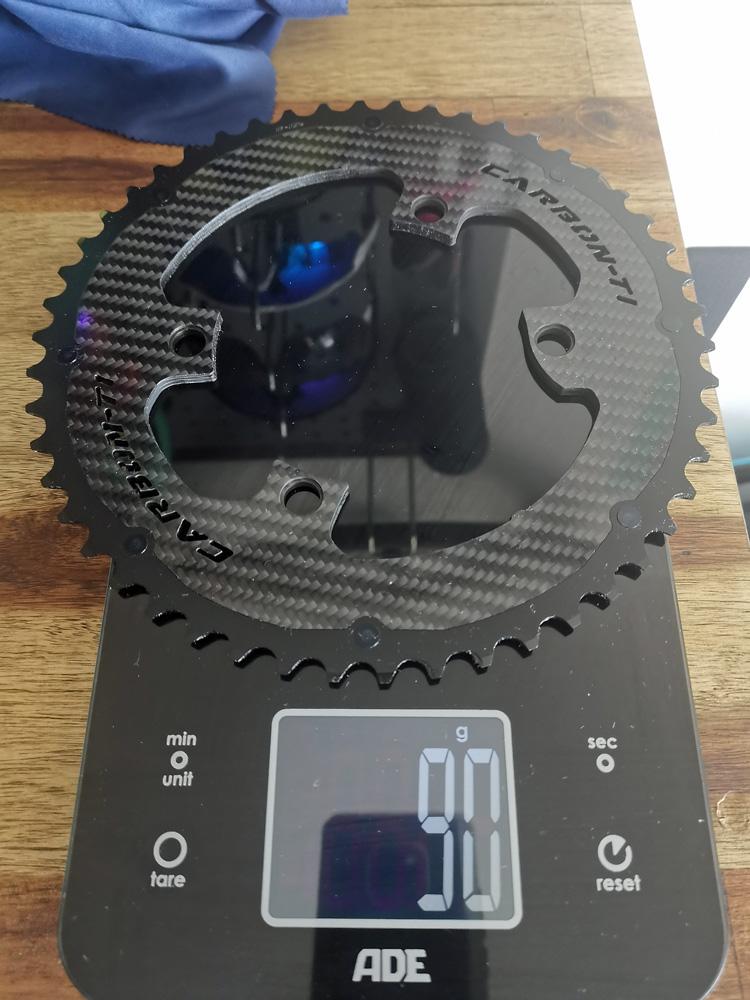 Carbon Ti Kettenblatt für Shimano Dura Ace 50 Zähne - 90 Gramm
